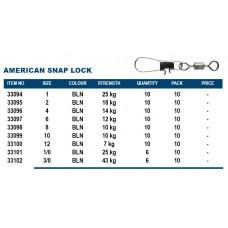 Okuma American Snap Lock Size 1/0