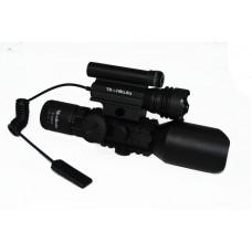 Nikula 3-10X42 Tüfek Dürbünü Çift Işıklı Lazerli M9