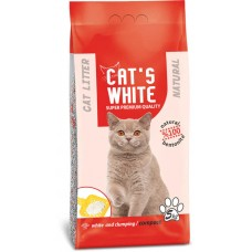 Cat's White Kokusuz Topaklaşan Doğal Bentonit Kedi Kumu 5 Kg