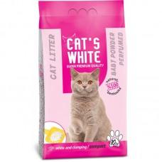 Cat's White Bebek Pudrası Kokulu Topaklaşan Doğal Bentonit Kedi Kumu 5 Kg